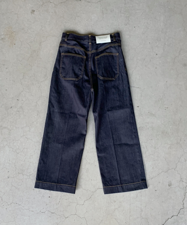 beautiful people selvage denim 5pocket wide pants indigo