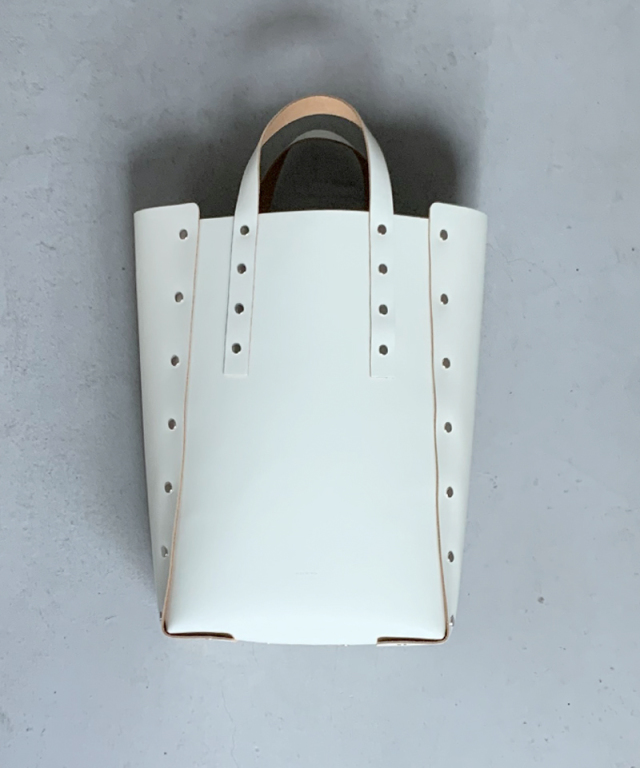 Hender Scheme assemble hand bag tall L white