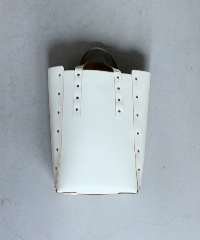 Hender Scheme assemble hand bag tall M white