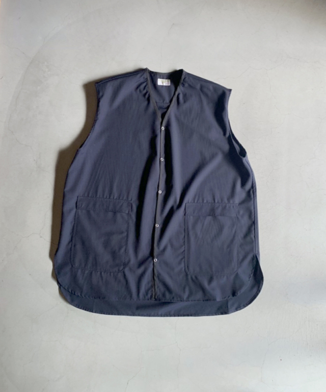 HOMELESS TAILOR BARBER VEST NAVY