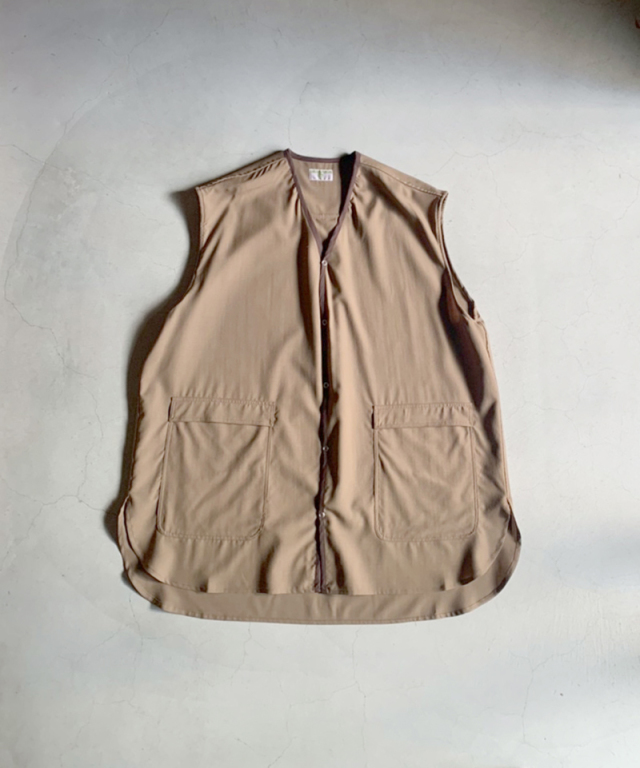 HOMELESS TAILOR BARBER VEST BROWN