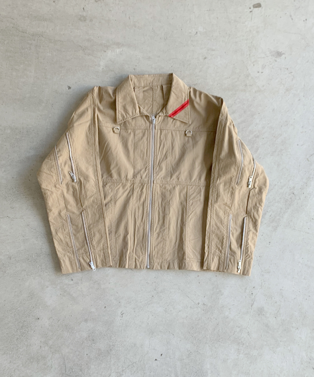 PHINGERIN ZIP RUN JACKET A:BEIGE