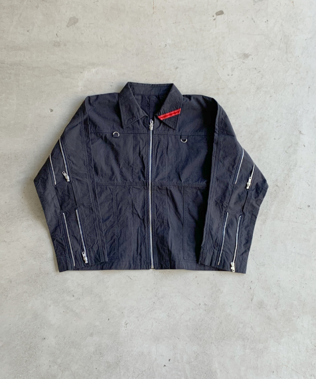 PHINGERIN ZIP RUN JACKET B:NAVY