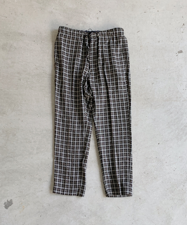 saby EASY TROUSERS BLACK CHECK