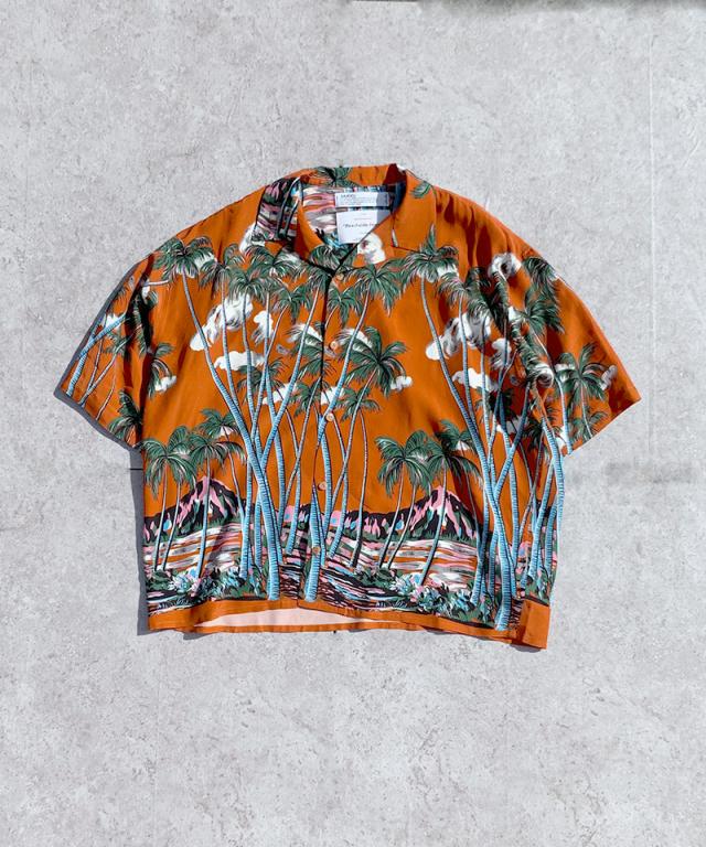 DAIRIKU INTERMISSINAloha Shirt Sunset orange