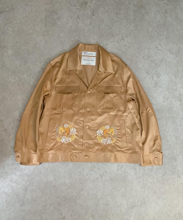 DAIRIKU Dragon Embroidery Souvenir Jacket Sunset Pink