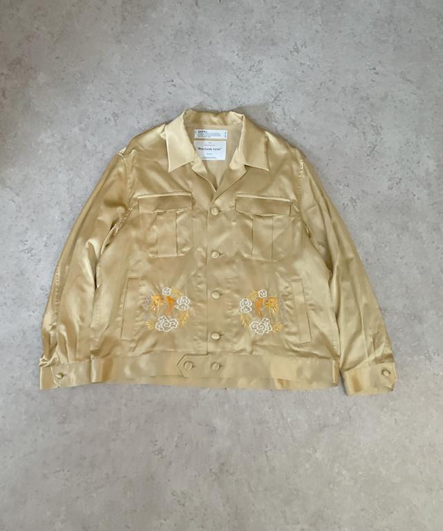 DAIRIKU Dragon Embroidery Souvenir Jacket Champagne Gold