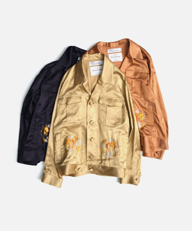 DAIRIKU Dragon Embroidery Souvenir Jacket