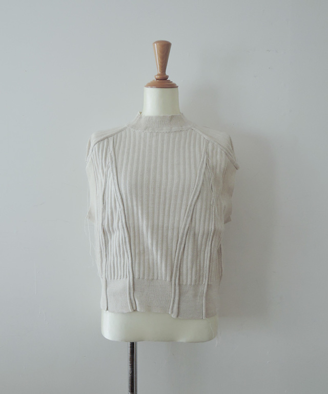 PHOTOCOPIEU PATCHWORK PULLOVER IVORY