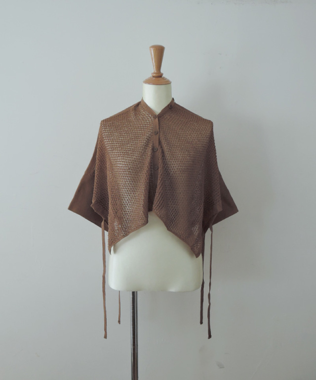 TAN MESHED LINEN CD BROWN