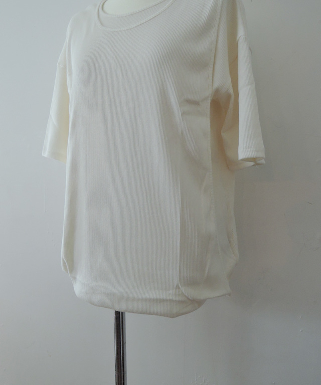 Uhr Layered Rib Tee White