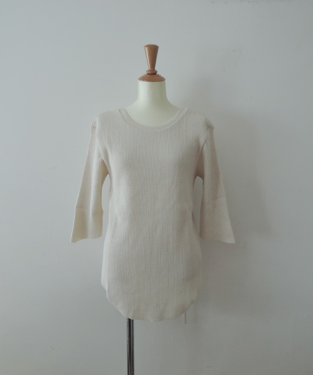 Uhr Rib Belted Waffle Tee Off White