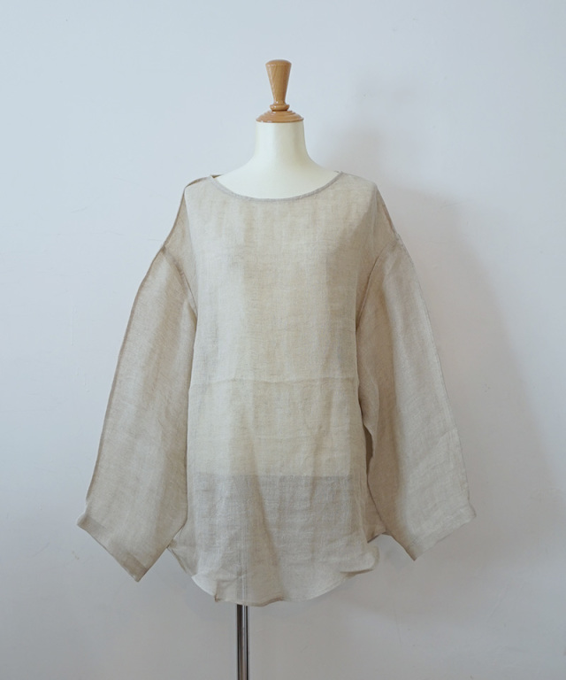 ERiKO KATORi linen gawze see-through natural