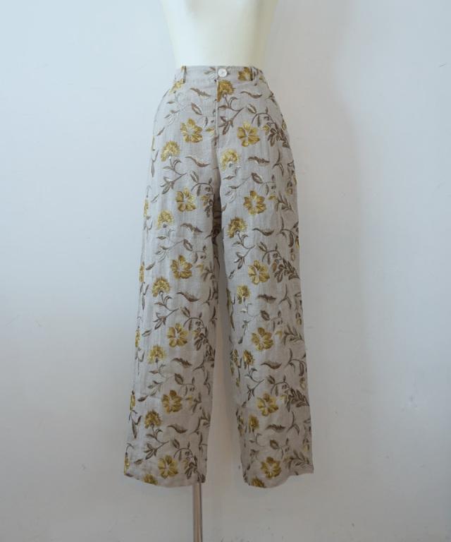 ERiKO KATORi flower embroidery pants
