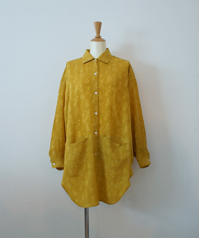 ERiKO KATORi big poket back open shirts maustard
