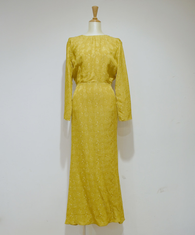 ERiKO KATORi back open dress maustard