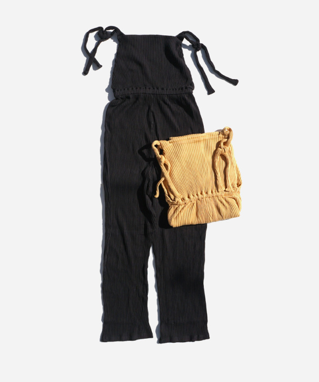BASERANGE CEPHA JUMPSUIT-PANTS BLACK