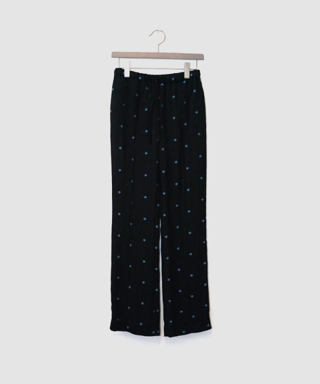 mame Pedicel Jacquard Pants BLACK