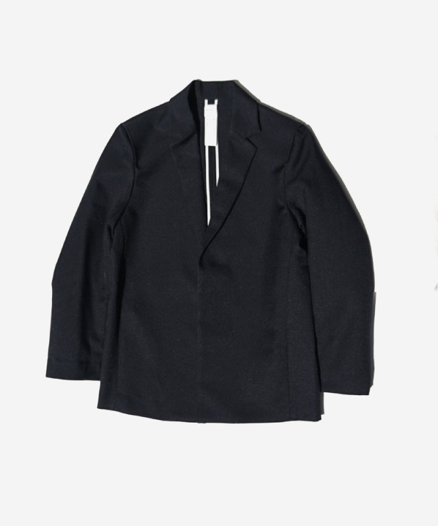 KAIKO BUTTONLESS JACKET BLACK
