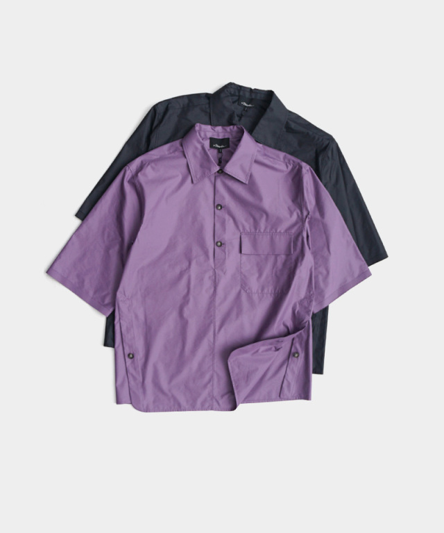 3.1 Phillip Lim SS OVERSIZED CHINTZ POPLIN POLO