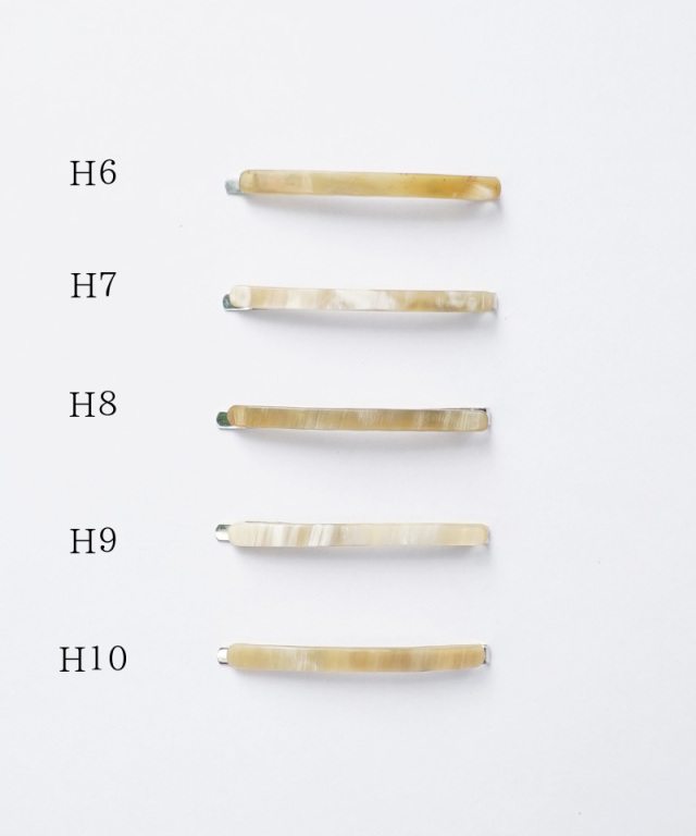 KOST KAMM Hair clip Horn / extra slender shape / 5cm TYPE-H H-6