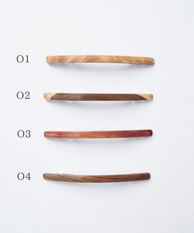KOST KAMM Hair clip Natural Wood / extra slender shape / 10cm TYPE-O O-1