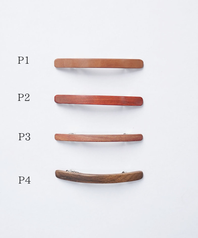 KOST KAMM Hair clip Natural Wood /6cm TYPE-P P-1