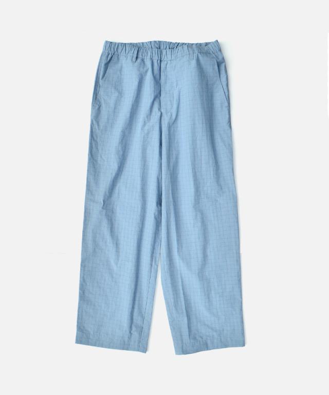 HEALTH EASY PANTS #3 ライトブルー×ブルーチェック