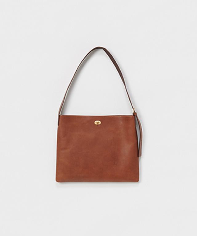 Hender Scheme twist buckle bag M dark brown