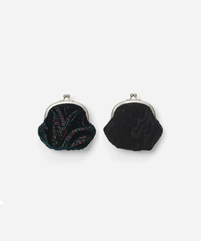 Hender Scheme velvet quilt snap pouch black