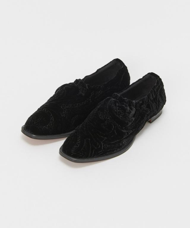 Hender Scheme square ballet velvet quilt black