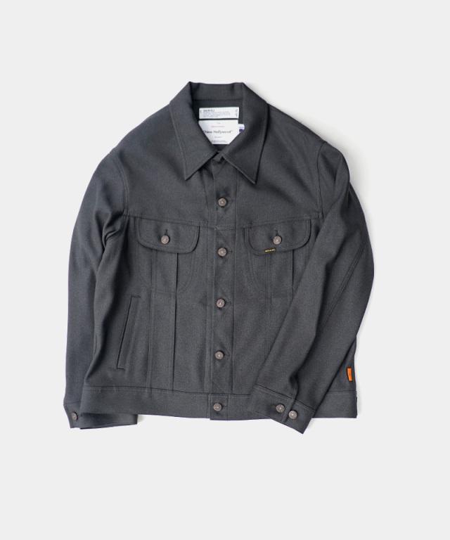 DAIRIKU Regular Polyester Jacket Grey Heather