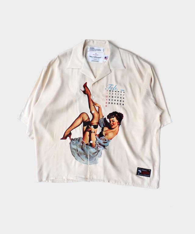 DAIRIKU Pinup Girl Half Sleeve Shirt Ivory