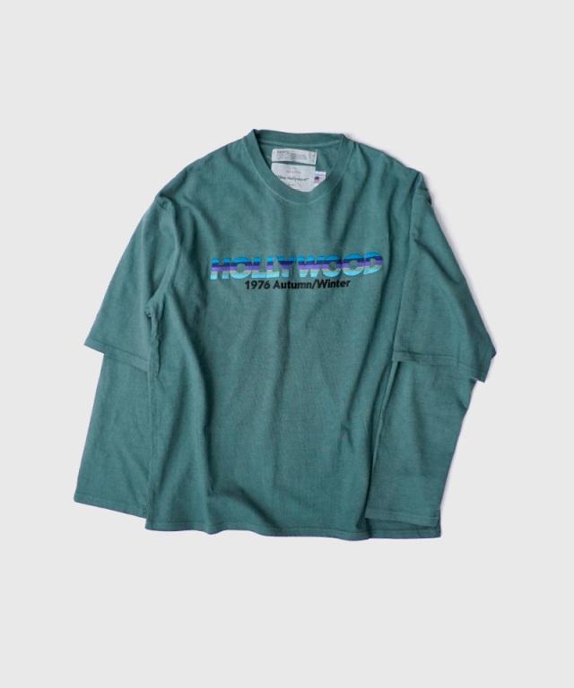 DAIRIKU HOLLYWOOD Layered T-shirt Moss Green