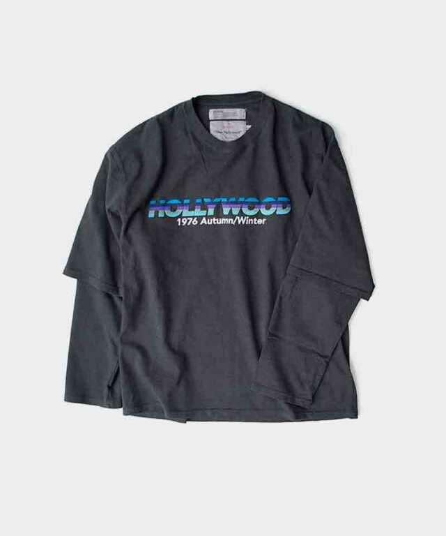 DAIRIKU HOLLYWOOD Layered T-shirt Vintage Black