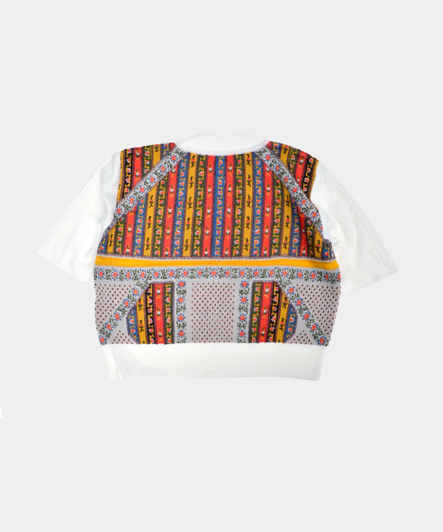 mame Cropped Knit Top WHITE