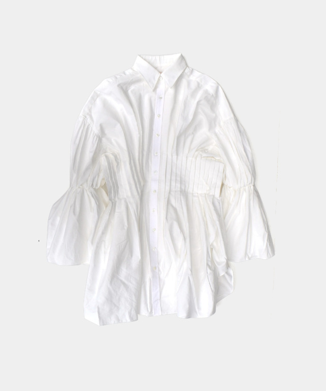 ERiKO KATORi West Pleats Shirts WHT