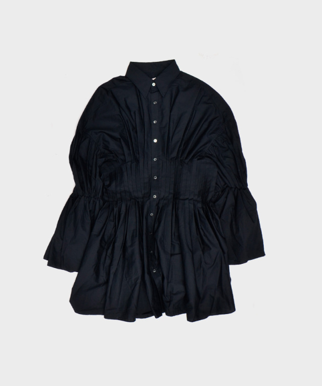 ERiKO KATORi West Pleats Shirts BLK