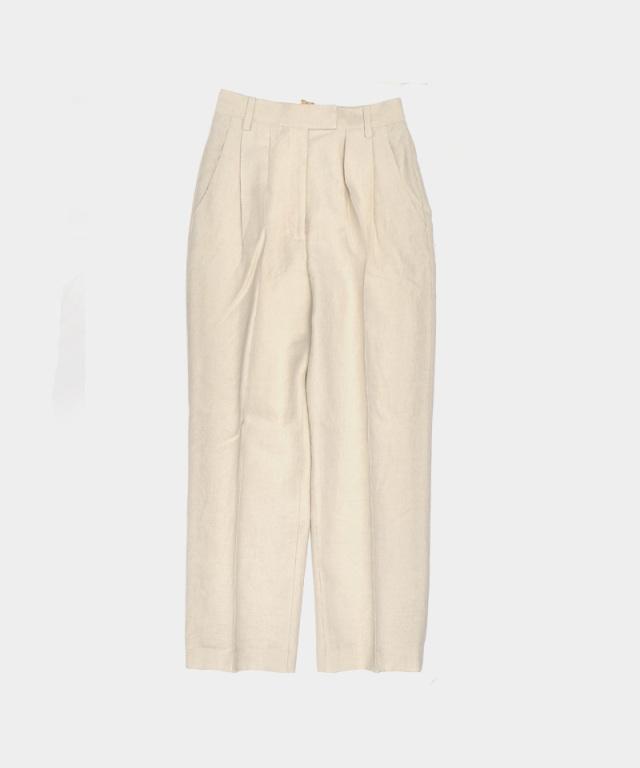 ERiKO KATORi Linen Wool Slacks Pants IVO