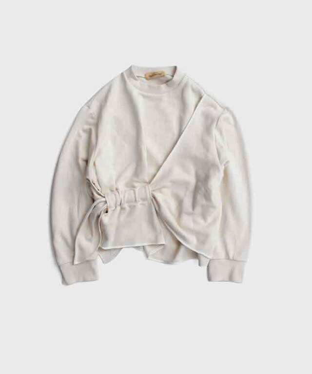 LENZ ribbon sweats Ivory