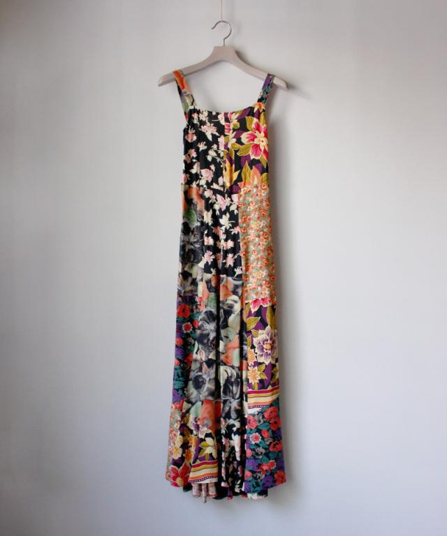 MALION vintage flower rayon marmeid dress