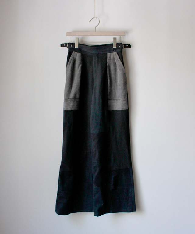 MALION vintage west belt denim pants