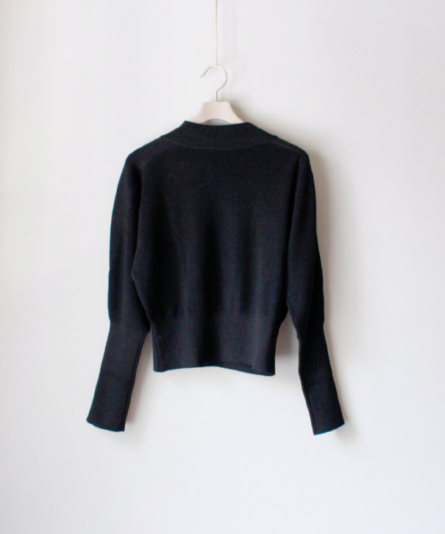 PHOTOCOPIEU COMPACT KNIT PULLOVER BLACK