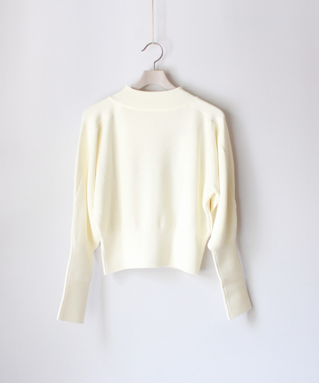 PHOTOCOPIEU COMPACT KNIT PULLOVER WHITE