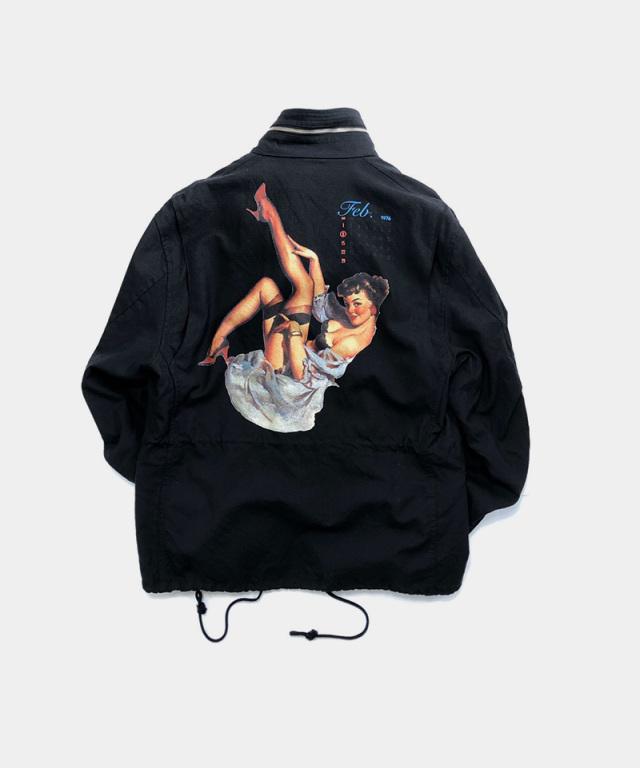 DAIRIKU Pinup GirlWashed M-65 Jacket Vintage Black