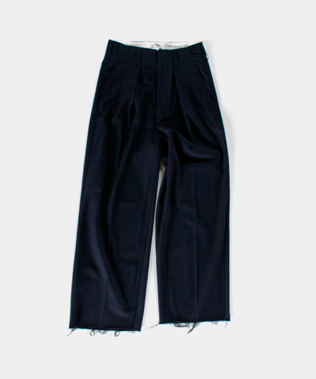 saby TUCK BAGGY HI COUNT 20/2 TWILL NAVY