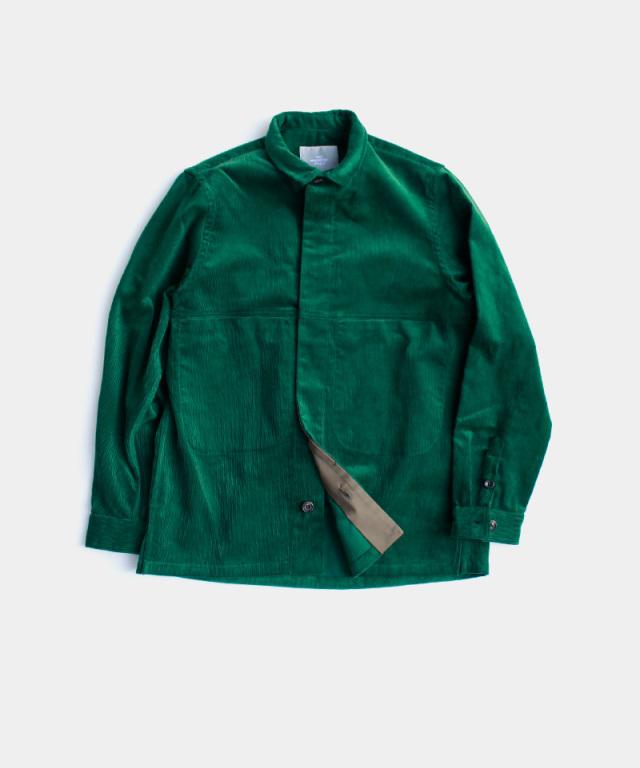 QUILP Shirt Jacket BOTTLE GREEN