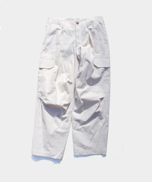 POLYPLOID CARGO TACK PANTS A OFF WHITE