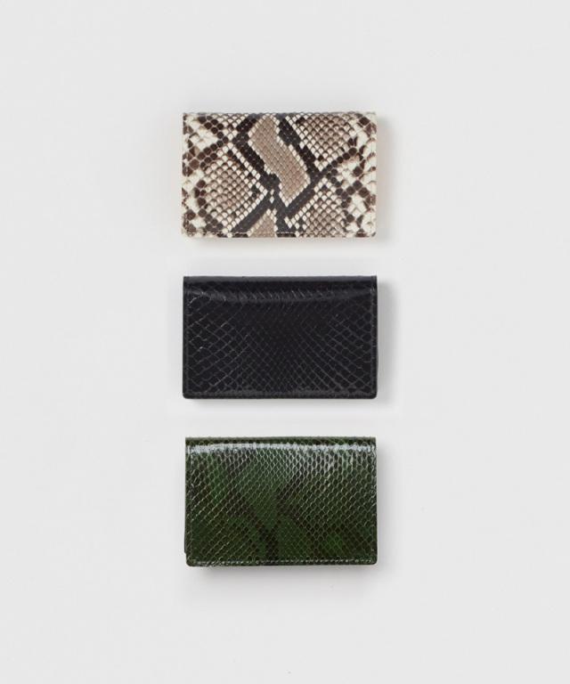 Hender Scheme python folded card case natural python