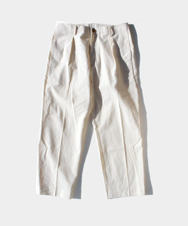 POLYPLOID TACK SUIT PANTS A OFF WHITE